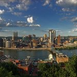 Panoramic view of Pittsburgh from Mt. Washington