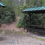 AT shelter on a trail