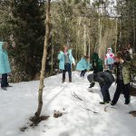 These kids were glad to get out and stretch their legs. Snowball fight!
