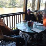 This was at a meet & greet on the porch of Cane River Bar & Grill
