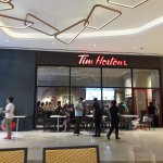 The first Tim Hortons in the Philippines at Uptown Mall.