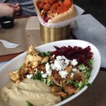 Pita (back) and salad bowl (front). DELICIOUS!!!