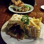 guiness pie & steak sandwich