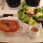 pot pie with salad