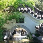 Fluss Torbogen Chinesischer Garten