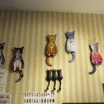 Wagging tail kitty clocks