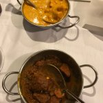 Top: Chicken Tikka Masala, Lower: Goat Curry, tender and not strong taste so the spices came thr