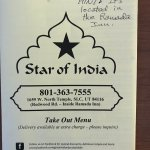 The take out menu cover marked with a helpful hint.
