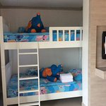Grandkids bunk beds in our family room