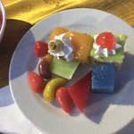Colourful desserts, buffet dinner was amazing