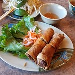 Egg rolls. Very crispy