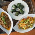The dishes we learned: Beef Rendang, Acar Timun, & Kuih Koci