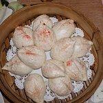 Birthday Buns (Peach/Longevity):(Steamed Buns w/ Lotus Seed Paste Filling)