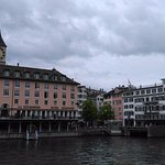 St Petekskirche's clock dominating Zurich's skyline
