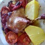 Pato al horno
