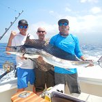 Jah, Doug and Stu with a beauty spearfish