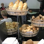 Wide choice of very fresh delicious breads at all meals.