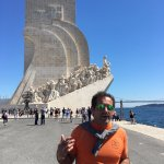 Gonzalo in front of the Monument to the Discoveries