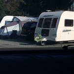 You can see how cramped it is, this pic shows 3 caravans