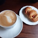 Cappuccino and Estonian Sausage Roll