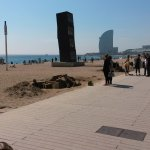 one of the many beaches in barcelona