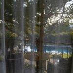 Vue sur la piscine chauffée