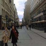 Walking through fashion street