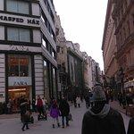 Walking through fashion street, at Deak Ferenc utca