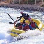 Feel the thrills and spills of whitewater rafting as part of your Wadi Adventure experience!