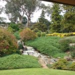 The waterfall at the Gardens