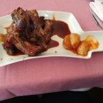 costilla de cerdo al vino tinto y miel ( muy dulce)