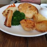 Fabulous roasts, top quality beef and brief, hazelnut, mushroom and cranberry wellington.
