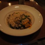 Mushroom risotto. Bland and diisappointing.