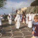 Easter procession outside the hotel