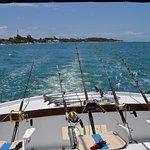 Heckansicht vom Boot