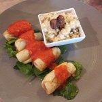 Encornets à la plancha et risotto