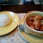 Heerlijke kip met rijst.