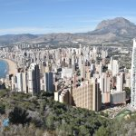 A view of Benidorm from the Cross
