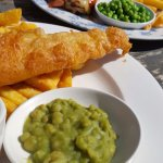 Fish and chips and Brewer's chicken