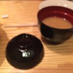 The miso soup