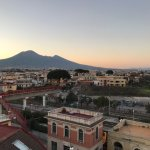 View of Mount Vesuvius from the hotel's rooftop.