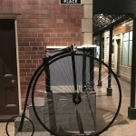 Penny farthing which you could actually get on to pose for photos