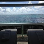 View of the sea from couples' massage cabana (spa)