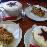 Delicious Cappuccinos and Granola Slices at Luna Coffee, Ringwood, Hampshire
