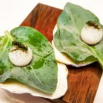 #seawater in #ice #seagrapes #oysterleaf #amusebouche for #saltiness