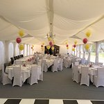 Marquee, getting ready for a wedding