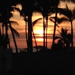 Sunset from one of Vidanta's resorts' boardwalk along Nuevo Vallarta Beach