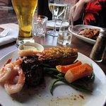 Steak & Prawns with Beer