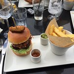 Surf and turf burger - awesome!
