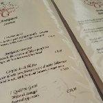 Una pagina del menù